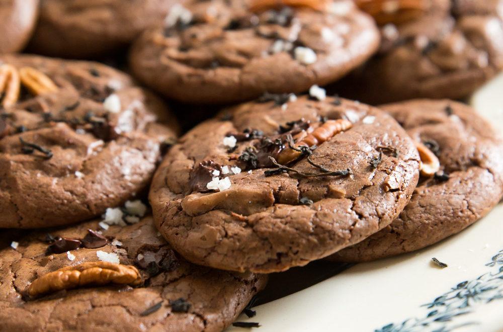 Cookies au chocolat, thé & fleur de sel